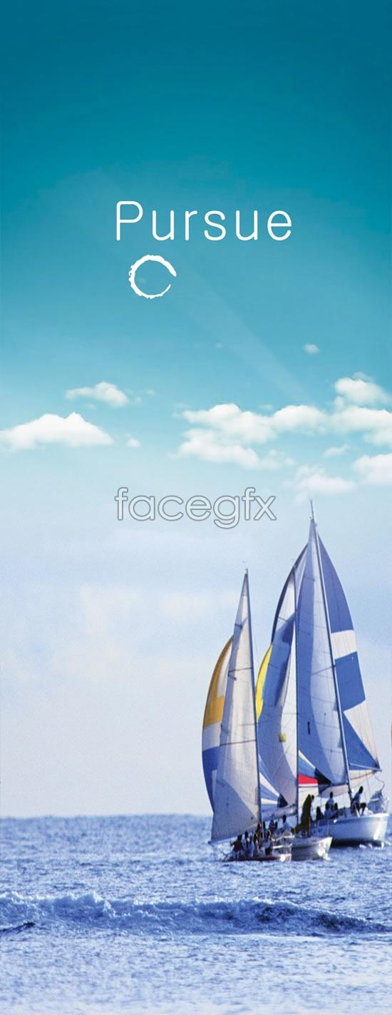 Sail the seas scenery PSD