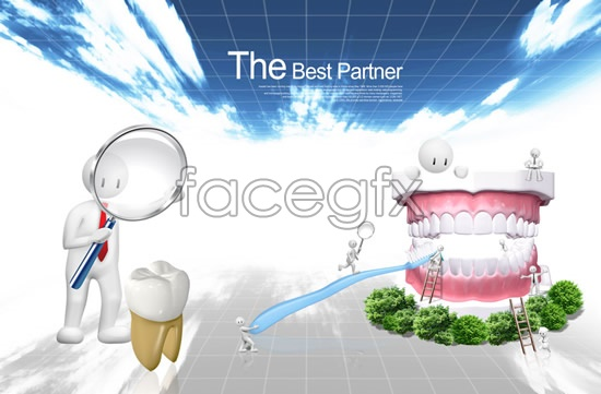 Love Teeth Day poster PSD