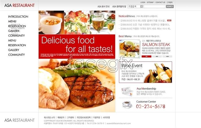 Restaurants NET PSD