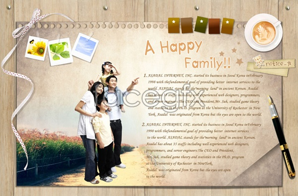 Happy home envelope PSD