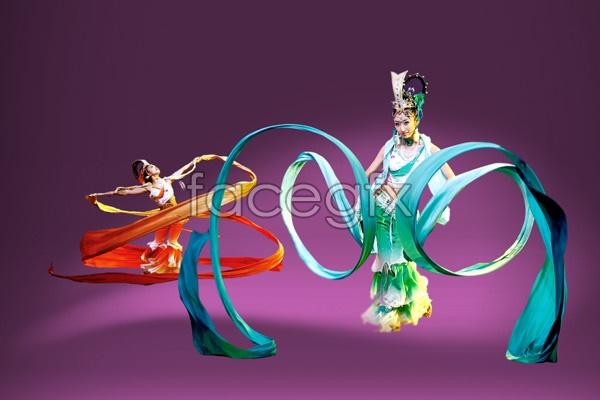 Ribbon dancing beauty PSD