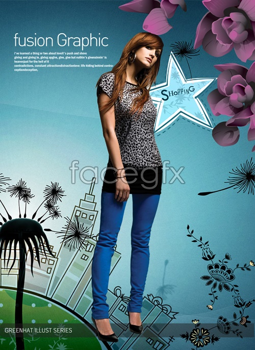 Trend fashion posters 4 PSD