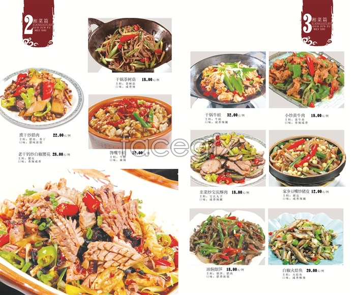 Hunan spicy dishes recipes PSD template-10