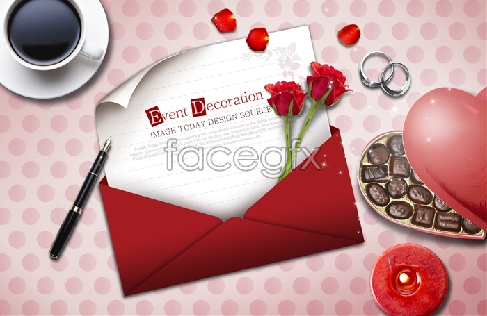Valentine's day chocolate love backgrounds PSD