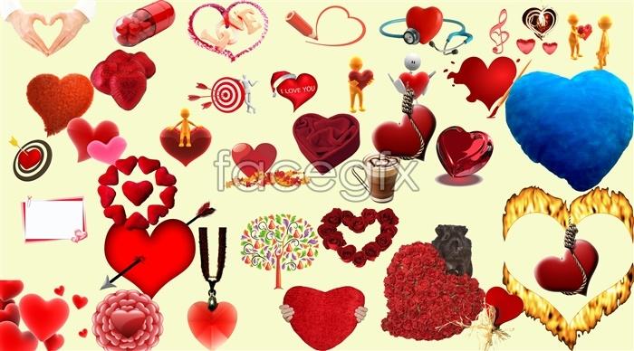 Valentine's day design element PSD