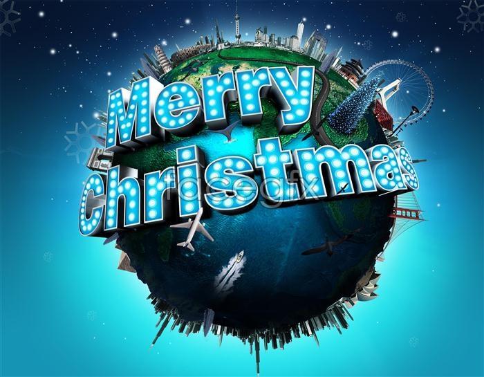 Creative Christmas aircraft PSD