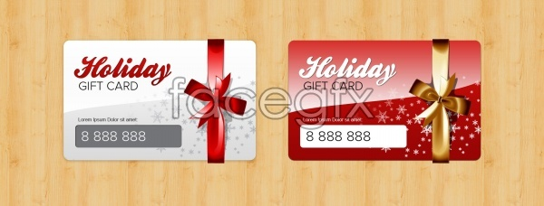 Holiday gift card design templates PSD