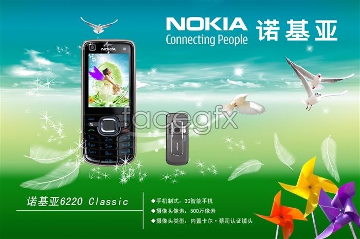 NOKIA Nokia phone posters on phone like background Dove stuff PSD
