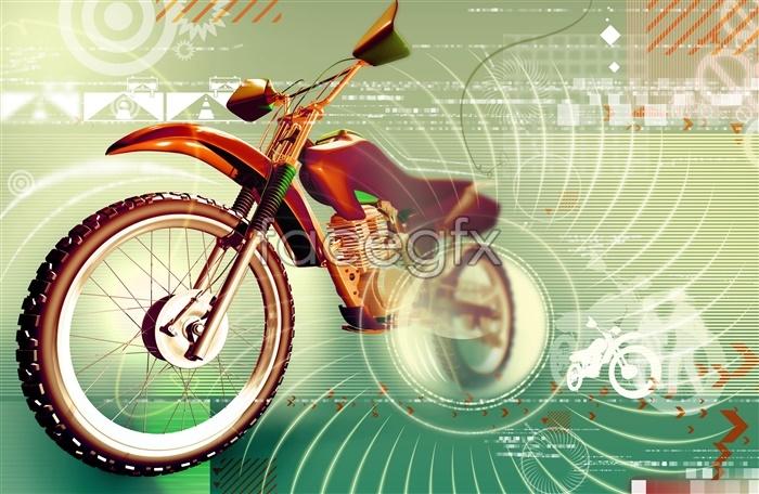 PSD creative motorcycle advertisement