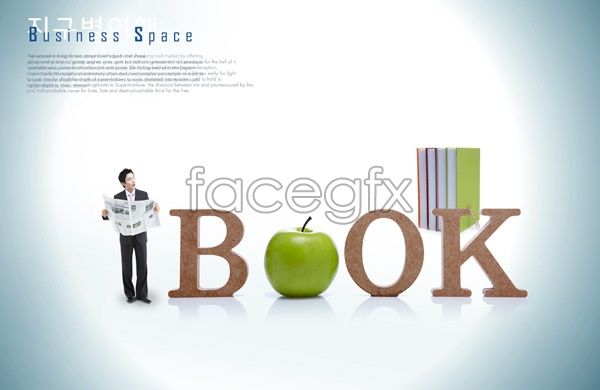 PSD newspaper business character posters of