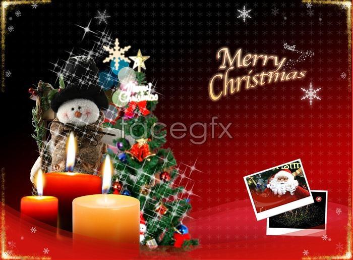 Beautiful Merry Christmas PSD 02