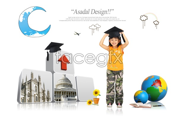Young students PSD