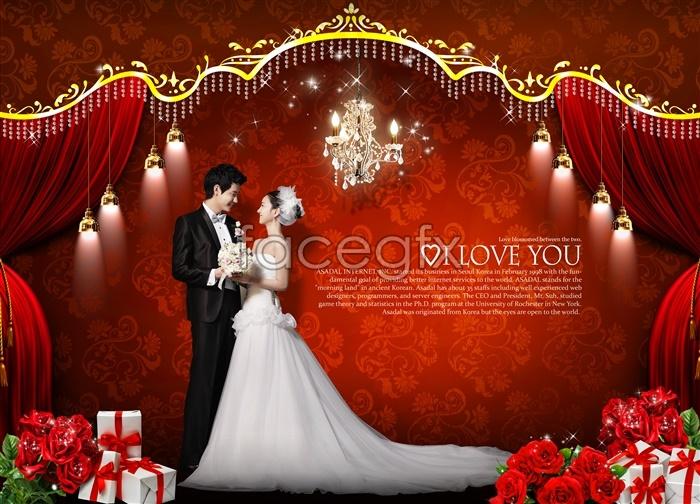 Korea Valentine's day photography-PSD wedding template 3 | Free ...