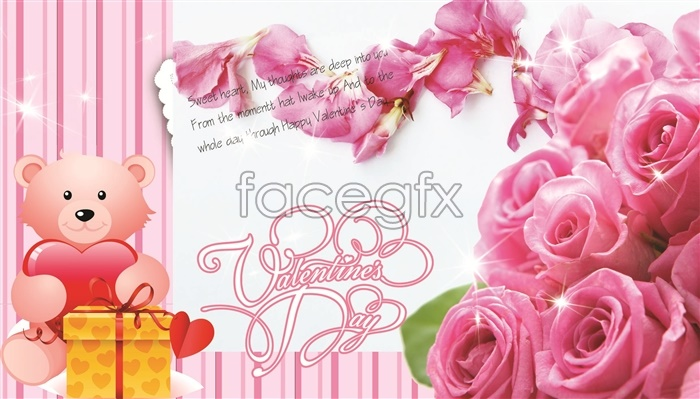 Valentine's day gifts PSD