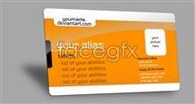 Creative cards badge template PSD source file