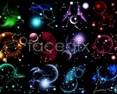 Dream 12 constellations background PSD