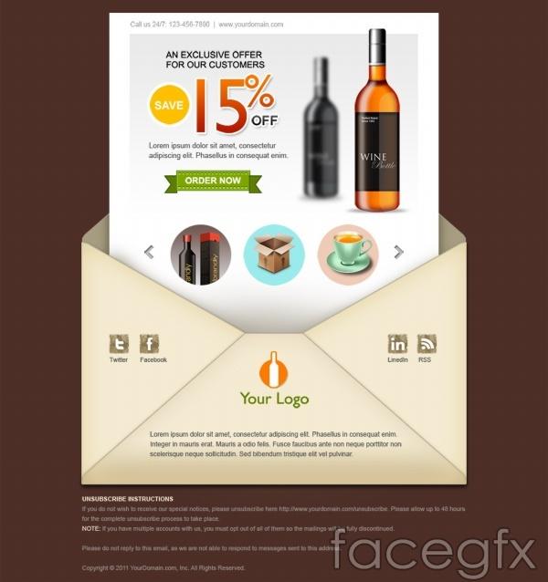 Overseas homepage flyer PSD creative design