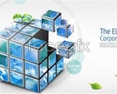 Business theme Rubik's cube PSD source file