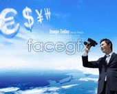 Currency symbol poster one must look to the longer term telescope PSD