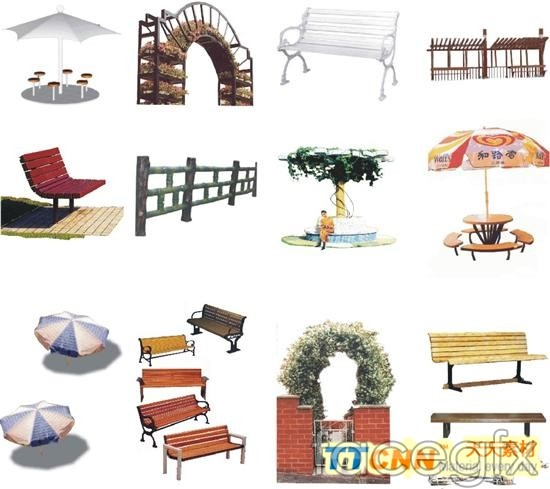 Garden Furniture Top View Psd outdoor seating garden terrace design templates psd | free download