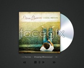 CD covers PSD and player
