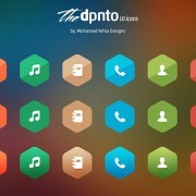 Colored UI icons PSD
