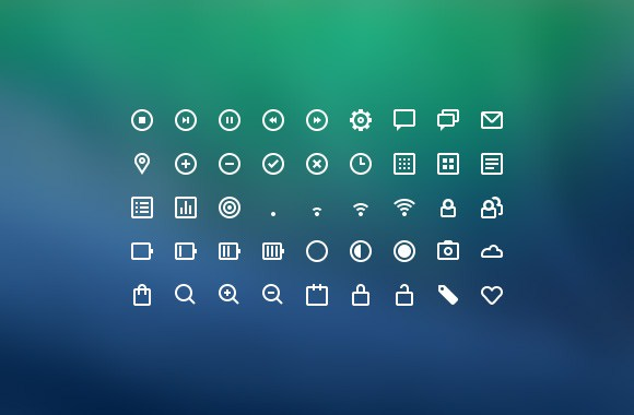 45 Kind line icons psd