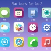 Flat icon for ios 7 PSD