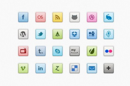 Shiny web media icons psd