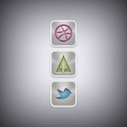 Web media icons psd