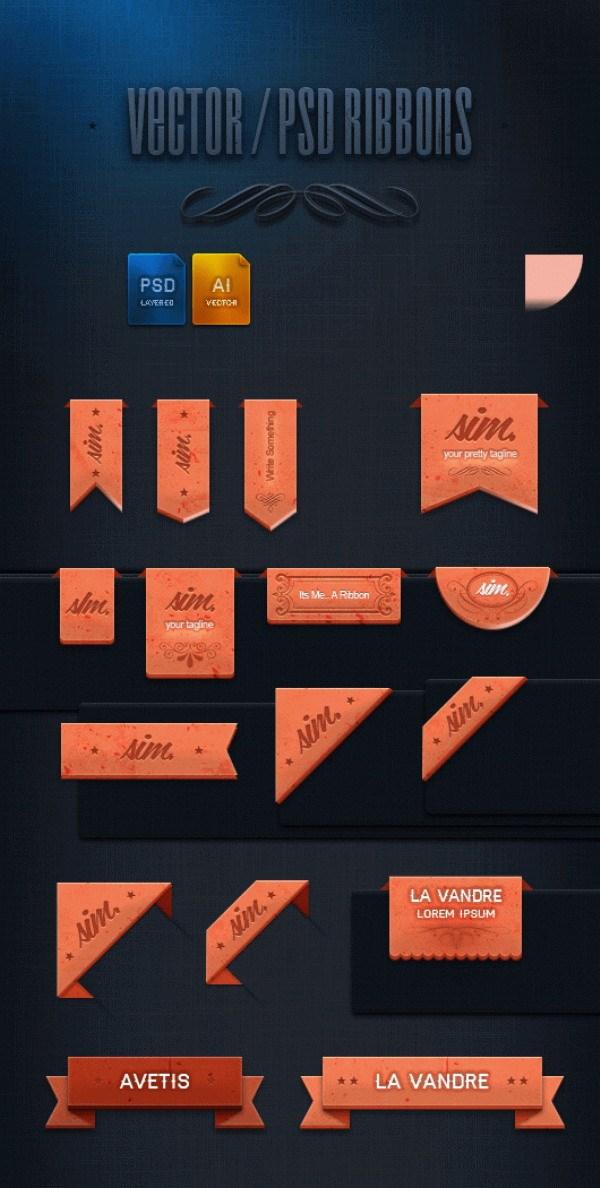 Angle label design PSD