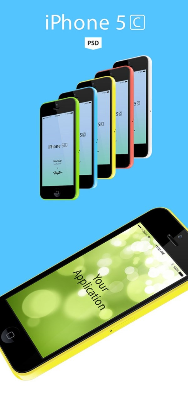 IPhone 5c source file for free PSD