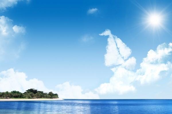 Blue Sky waters PSD landscape