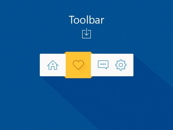 Toolbar PSD source file footage