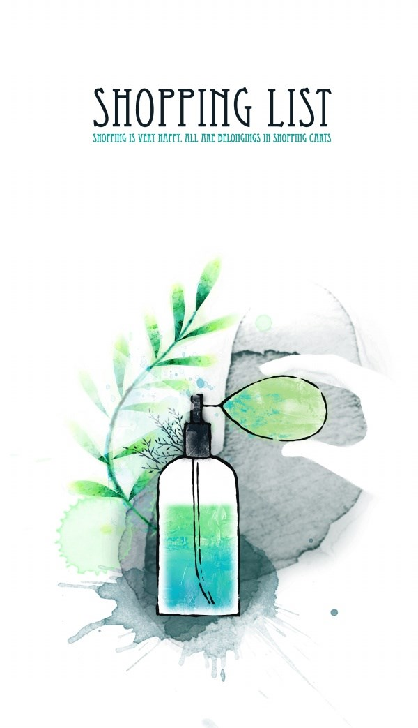 Perfume poster design source files PSD free