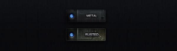Rot rust metal button PSD