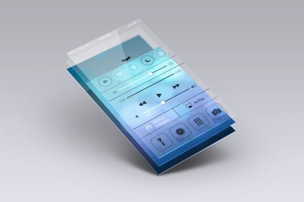 Phone UI source files design PSD free