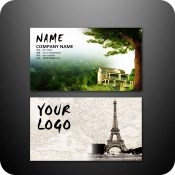 Business card templates design PSD free