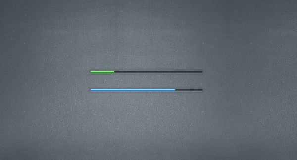 Small progress bar and the slider PSD