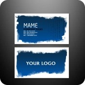 Business card PSD design template