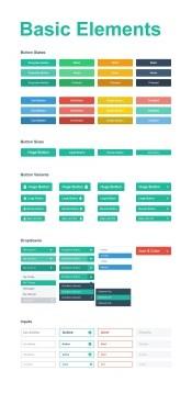 Web page menu design source PSD free