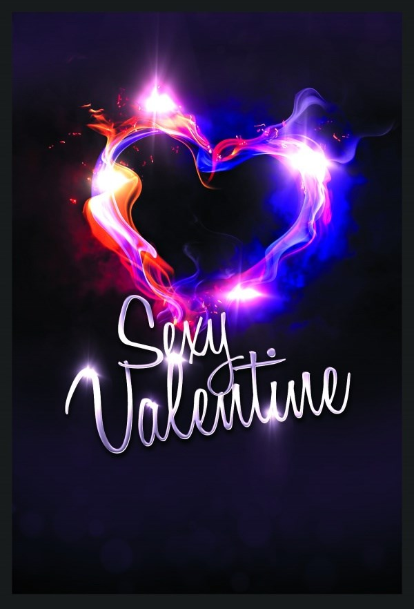 Cool Valentine's Day poster PSD design