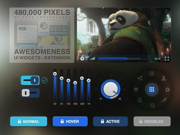 Web UI elements design PSD free