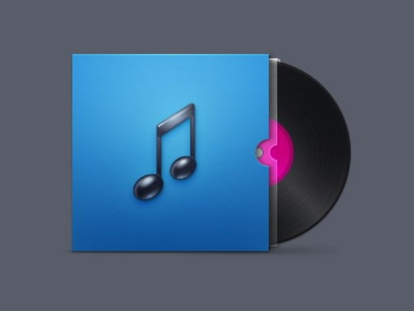 CD music icon PSD