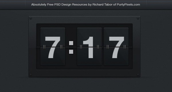 Web page clock PSD