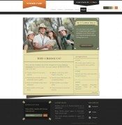 Outdoor travel PSD Web design templates