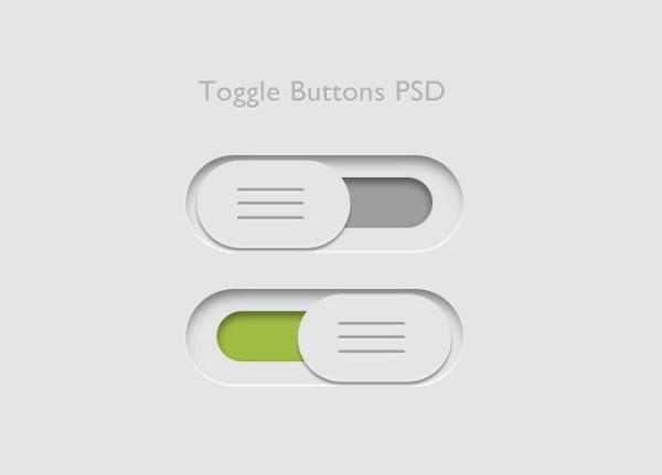 Toggle button PSD free stuff