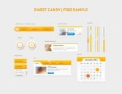 Orange themes UI design source files PSD free
