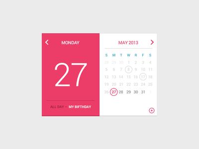 My Birfday Calendar PSD