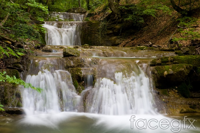 Spectacular waterfalls HD nature pictures vector